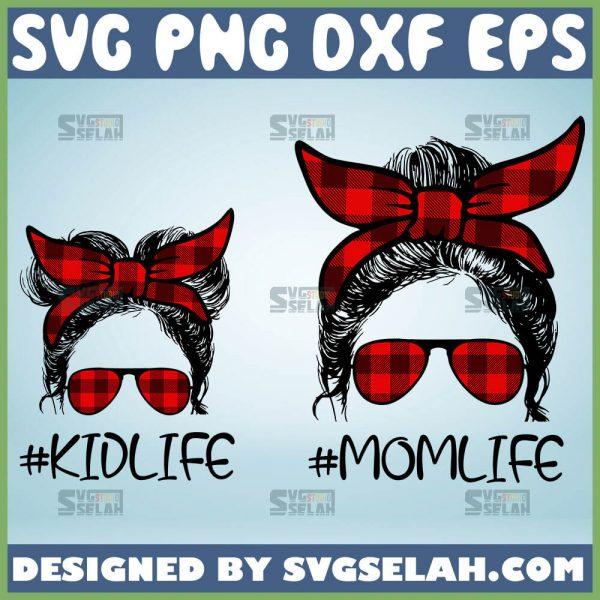 Buffalo-Plaid-Mom-Hair-Svg-Kid-Life-And-Mom-Life-Svg-Messy-Bun-Mom-Hair-Svg-1.jpg