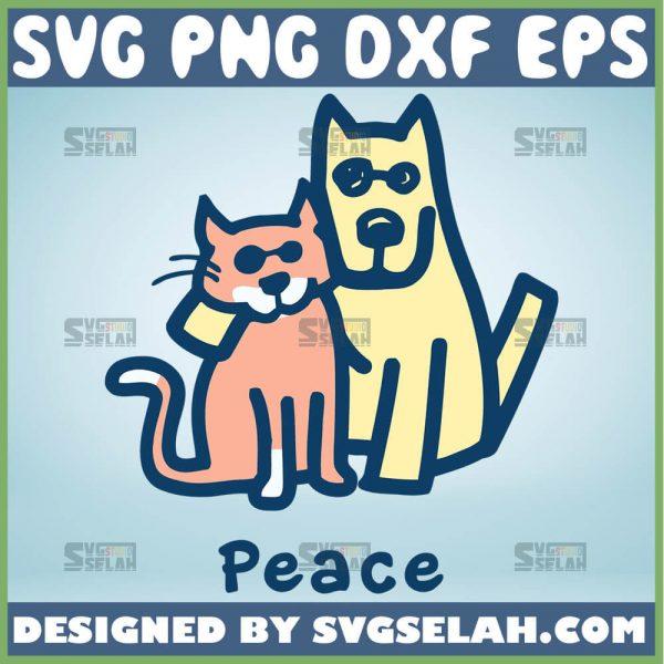Cat Mom Dog Mom Peace Together Svg Dog And Cat Mom Svg Cat Mama Svg Dog Mama Svg 1