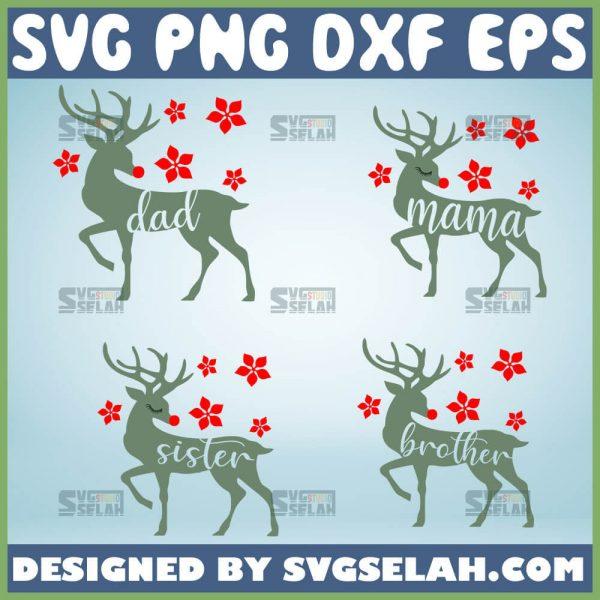 Dad Mama Sister Brother Deer Svg Mama Doe Svg Deer Family Svg Bundle 1