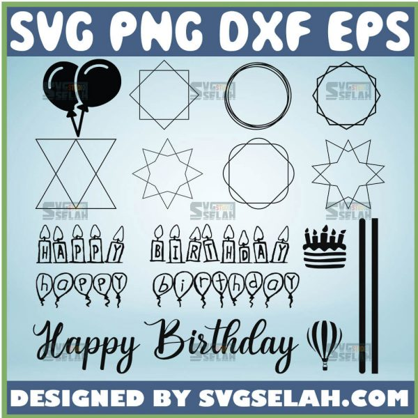 Happy Mothers Day Cake Topper Svg Happy Birthday Ballons Svg 1