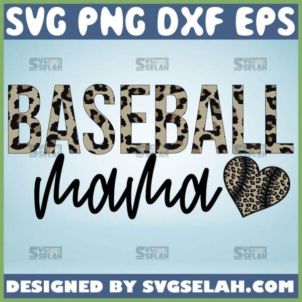 Leopard Baseball Mama Svg Heart Baseball Svg 1