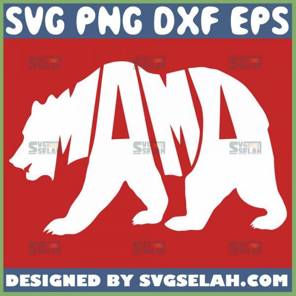 Mama Bear Words Svg Funny Bear T Shirts Svg 1