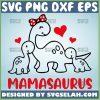 Mamasaurus Svg Baby And Mom Dinosaur Svg Heart Polka Dot Bow Svg 1