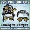 Mom Life Kid Life Svg Mom Life Skull Shirt Svg Bandana Sunglasses Leopard Print Svg 1