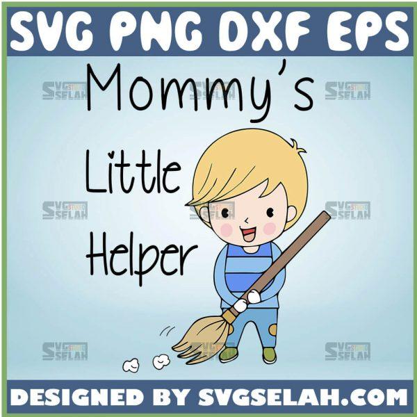 MommyS Little Helper Svg Sweeping Boy Svg 1