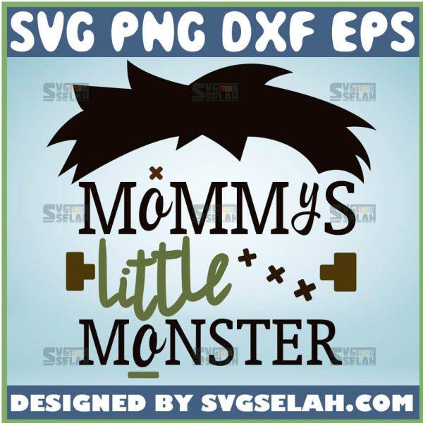 MommyS Little Monster Svg Frankenstein Mom Svg Funny Mom Shirt Monster 1