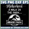 Motherhood A Walk In The Park Svg Jurassic Park Motherhood Svg 1