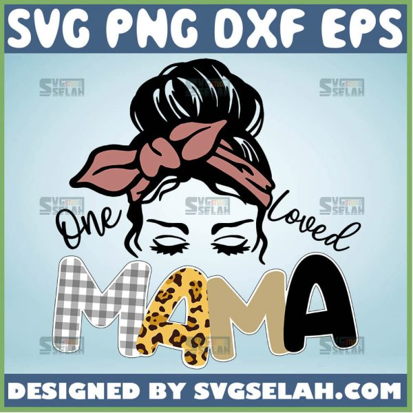 One Loved Mama Svg Girl With Headband Svg 1