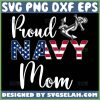 Proud Navy Mom Svg Distressed American Usa Flag Svg Anchor Svg 1