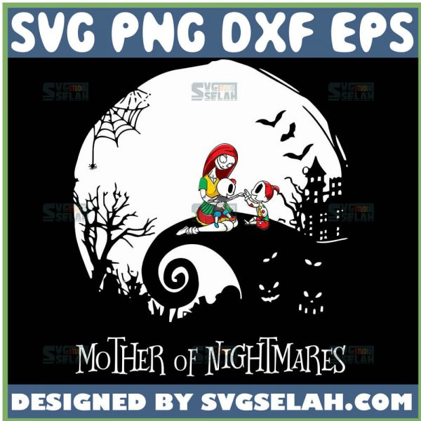 Sally Mother Of Nightmares Halloween Moon Svg Nightmare Before Christmas Svg 1