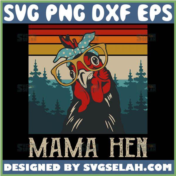 Womens Chicken Mama Hen Vintage SvgMother Hen Svg Chicken Mama Svg 1