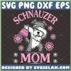 Schnauzer Mom Svg Dabbing Dog Svg Dog Flowers Svg Schnauzer Puppy Svg 1