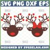 Disney Mickey And Minnie Mouse Reindeer Svg Christmas Rudolph Svg 1