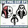 Mandalorian Skull Svg Bundle Starwars Half Skull Face Svg 1
