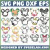 Mickey Flower Svg Disney Floral Svg Minnie And Mickey Mouse Wreath Svg Bundle 1