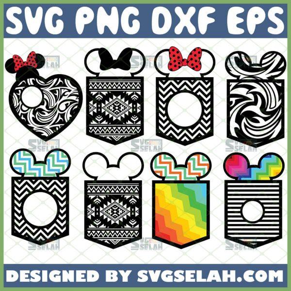 Mickey Pocket Monogram Frame Svg Bundle Zentangle Svg Pattern 1