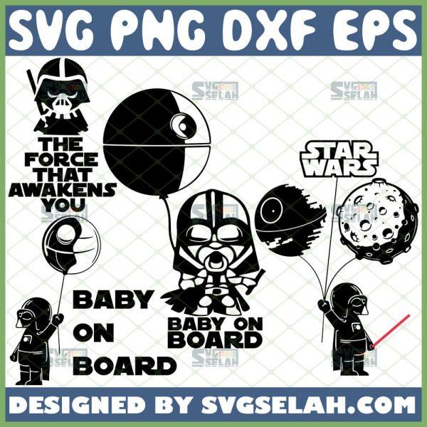 Star Wars Baby Darth Vader Svg Bundle Baby On Board Svg The Force That Awakens You Svg 1