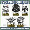 Star Wars Happy Birthday Svg Bundle 1