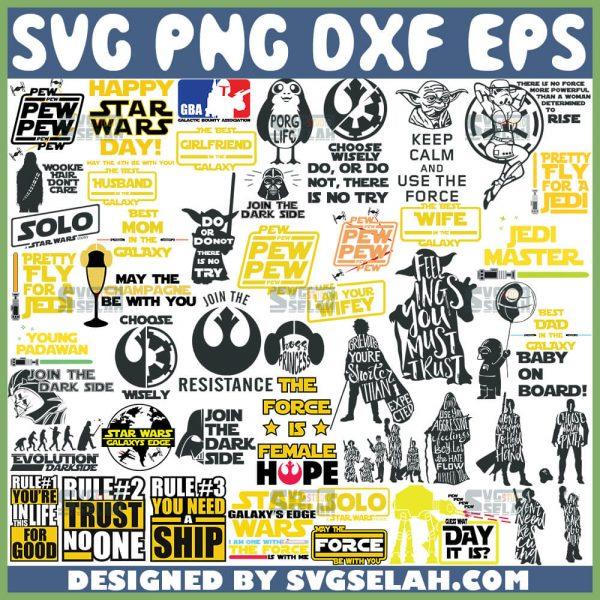 Star Wars Quotes Svg Bundle 1