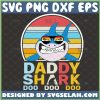 daddy shark doo doo doo svg vintage cartoon shark sunglasses with palm trees svg Fathers Day Gifts Family Matching Dad 1
