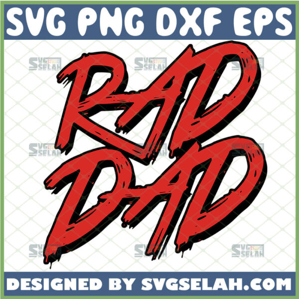 rad dad svg dad is cool svg fathers day
