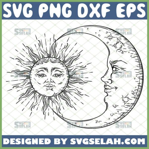 celestial sun and moon svg