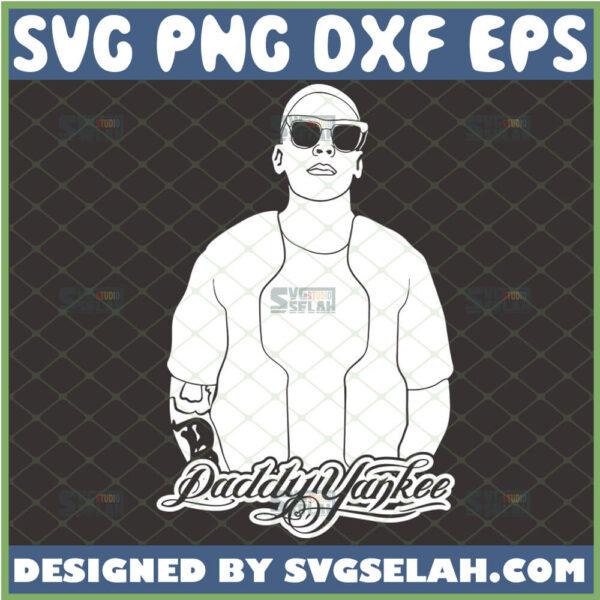 daddy yankee svg ramon luis ayala rodriguez silhouette king of reggaeton rapper svg singer svg