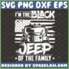 im the black jeep of the family svg jeep wrangler with american flag svg
