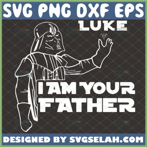 luke i am your father svg star wars darth vader outline silhouette