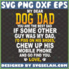 my dear dog dad you are the the best dad svg