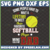 my favorite softball player calls me dad svg sport gifts for fathers day