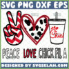 peace love chick fil a svg diy food lover gifts