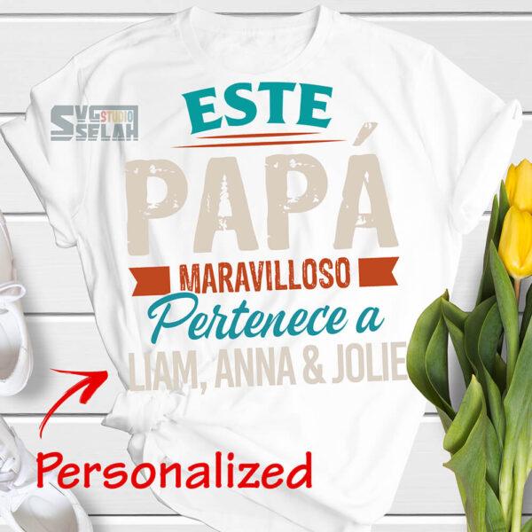 personalizada este papa maravilloso pertenece a svg spanish vectores dia del padre