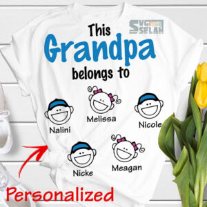 personalized this grandpa belongs to svg awesome grandfather with kid names diy gift ideas