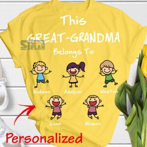 personalized this nana great grandma belongs to svg grandkids diy shirt with names