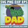 the incredible dad svg hulk svg marvel fathers day shirt svg