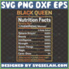 black queen nutrition facts svg african american phenomenal woman svg design for melanin girl afro diva