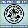 born in the rockies coors light svg beer logo inspired