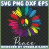 color sunflower peace sign hippie svg