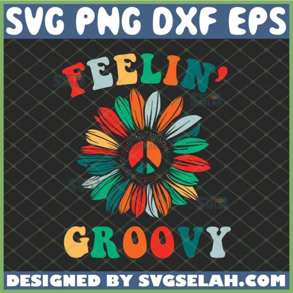 colorful sunflower svg hippie feelin groovy svg