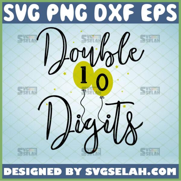 double digits svg tenth birthday svg birthday party girl shirt ideas