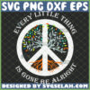 every little thing is gone be alright svg hippie logo peace tree svg