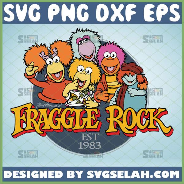 fraggle rock svg red mokey boober wembley gobo cartoon puppet tv show svg