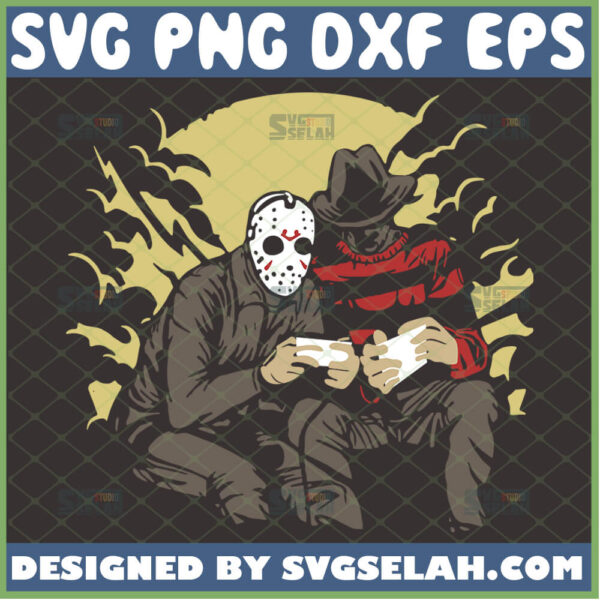 freddy vs jason svg funny jason voorhees and freddy krueger horror gifts for friends
