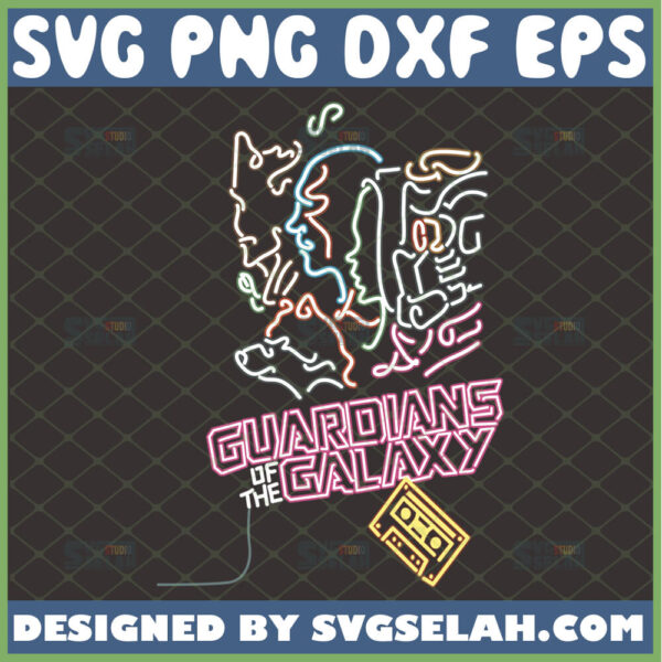 guardians of the galaxy svg mixtape star wars inspired