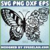 half butterfly half flower svg floral animal tattoo design ideas