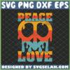 hippie peace love peace sign svg
