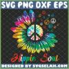 hippie soul sunflower color svg