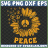 hippie sunflower peace vintage svg