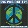 imagine all the people living life in peace svg world map hippie logo svg